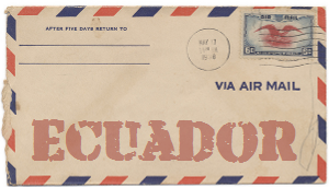 Recent missionary letter from Ecuador