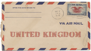 Recent missionary letter from the United Kingdom
