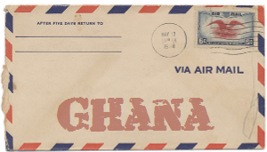 Recent missionary letter from Ghana