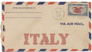 Recent missionary letter from Italy