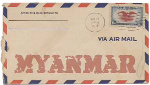 Recent missionary letter from Myanmar