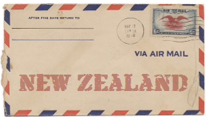 Recent missionary letter from New Zealand